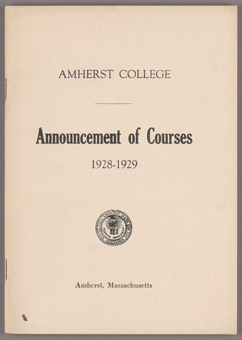 Announcement of courses 1928-1929