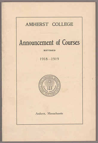 Announcement of courses revised 1918-1919