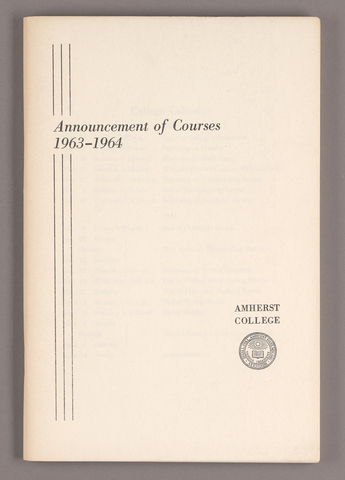 Announcement of courses 1963-1964