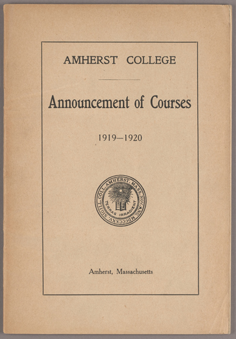 Announcement of courses 1919-1920