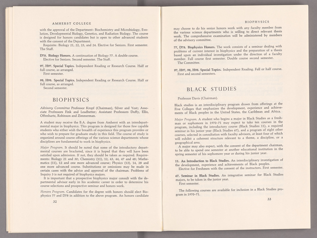 Announcement of courses 1970-1971