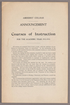 Announcement of courses of instruction for the academic year 1912-1913