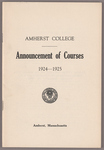 Announcement of courses 1924-1925