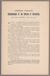 Announcement of the courses of instruction for the academic year 1905-1906