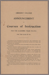 Announcement of courses of instruction for the academic year 1912-1913: For the Class of 1916
