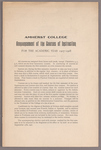 Announcement of the courses of instruction for the academic year 1907-1908