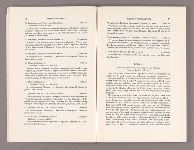 Announcement of courses 1956-1957