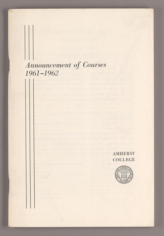 Announcement of courses 1961-1962