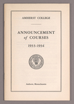 Announcement of courses 1933-1934