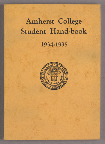 Student hand-book of Amherst College, 1934-1935
