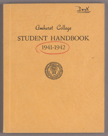 Student hand-book of Amherst College, 1941-1942