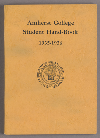 Student hand-book of Amherst College, 1935-1936