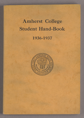 Student hand-book of Amherst College, 1936-1937