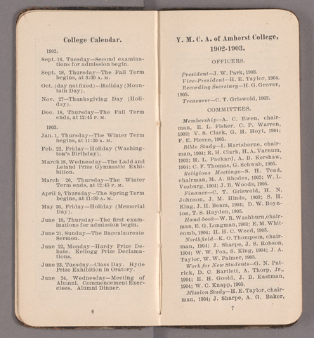 Students' hand-book of Amherst College, 1902-1903