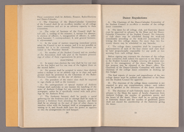 Student hand-book of Amherst College, 1939-1940