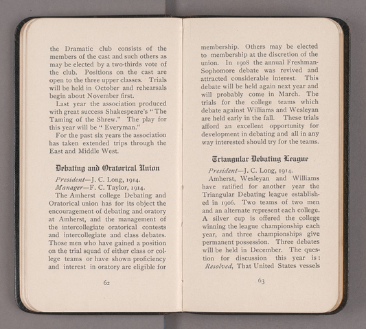 Students' handbook of Amherst College, 1913-1914