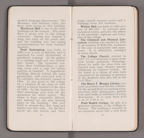 Students' handbook of Amherst College, 1909-1910