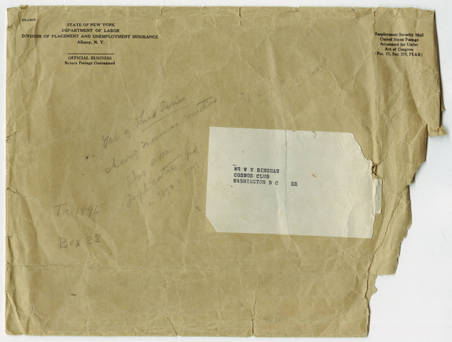 Envelope with notes