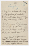 "Transcription of Emily Dickinson's ""I envy seas whereon he rides"""