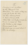 "Transcription of Emily Dickinson's ""Drowning is not so pitiful"""