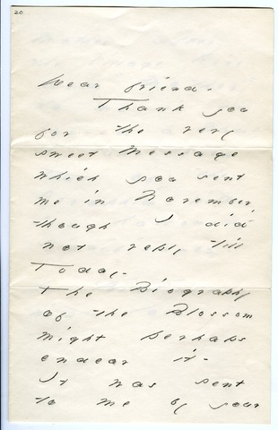Emily Dickinson letter to [Mary Ingersoll Cooper?]