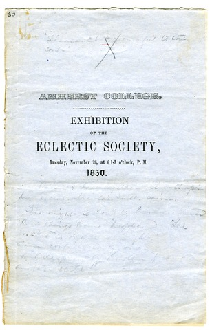Program of the Exhibition of the Eclectic Society