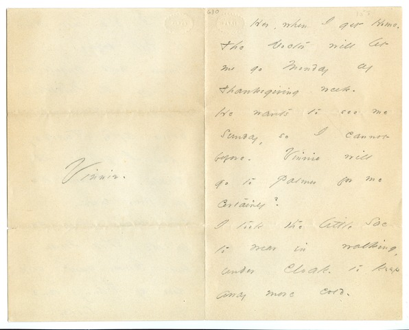 Emily Dickinson letter to Lavinia Dickinson