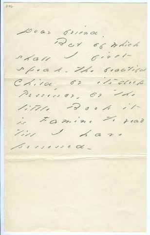 Emily Dickinson letter to unknown recipient