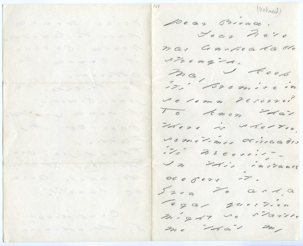 Emily Dickinson letter to Benjamin Kimball