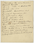 "Edward Hitchcock classroom lecture notes, ""Examples of the use of Berzelius' Chemical Symbols"""
