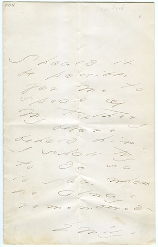 Emily Dickinson letter to Mrs. Emily Ford