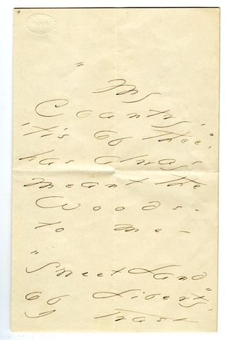 Emily Dickinson letter to Mrs. James S. (Abigail) Cooper