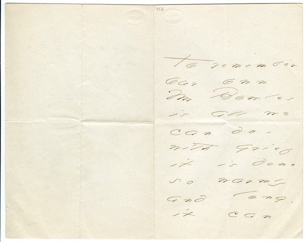 Emily Dickinson letter to Mrs. Samuel (Mary) Bowles