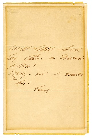 Emily Dickinson letter to Little Ned