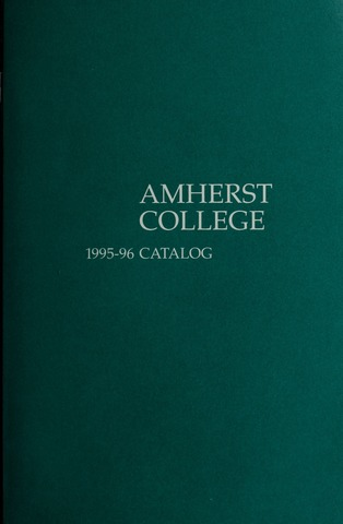 Amherst College Catalog 1995/1996