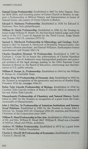 Amherst College Catalog 1989/1990