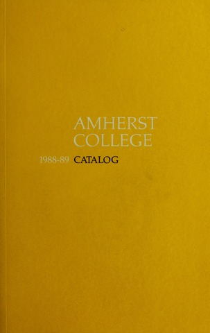 Amherst College Catalog 1988/1989