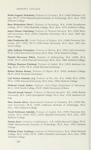 Amherst College Catalog 1979/1980