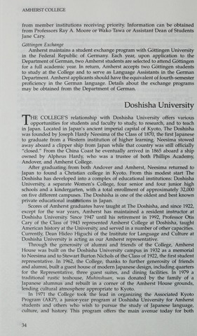 Amherst College Catalog 1994/1995