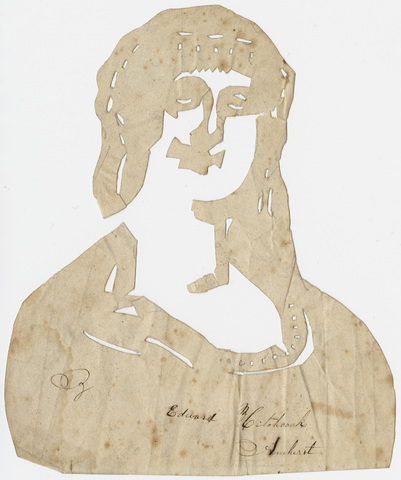 Edward Hitchcock cut-paper silhouette