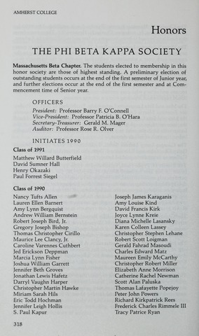 Amherst College Catalog 1990/1991