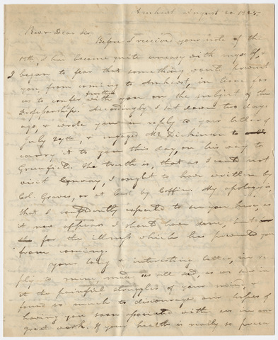 Heman Humphrey letter to Edward Hitchcock, 1825 August 20