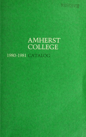 Amherst College Catalog 1980/1981