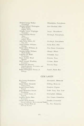 Amherst College Catalog 1975/1976