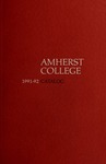 Amherst College Catalog 1991/1992