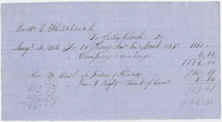 Edward Hitchcock receipt of payment to John Clarke, 1856 August 4