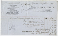 Edward Hitchcock receipt of payment to Wiley & Putnam, 1847 July 8