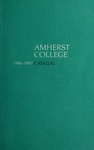 Amherst College Catalog 1986/1987