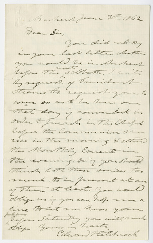 Edward Hitchcock letter to Henry J. Van-Lennep, 1862 June 30