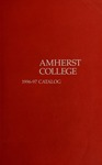 Amherst College Catalog 1996/1997